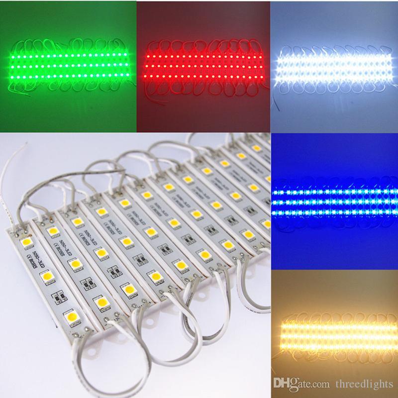 LED Module 5050 3 LED DC12V Waterproof Advertisement Design LED Modules Super Bright Lighting White/Warm white/RGB color