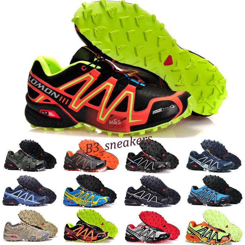 salomon speedcross 3 4 Cruz 3 CS Homens Mulheres Outdoor Running Shoes SpeedCross Run Azul Verde Vermelho Designer instrutor dos homens do esporte da sapatilha tamanho 36-46 B9