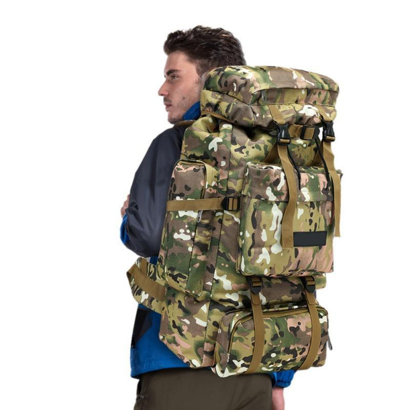 Полезные 70L двойной плечо водонепроницаемый кемпинг туризм восхождение сумка рюкзак открытый большой емкости пылезащитный