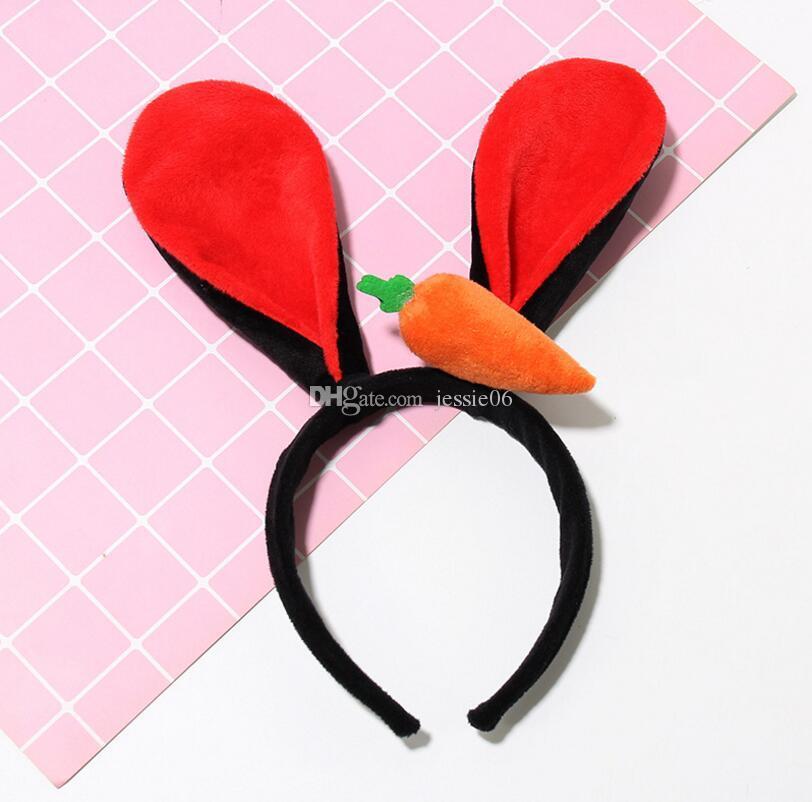 NEW Plush rabbit ears headband carrot cosplay equipment stage performance props headband hair accessories adult headwear GIFT dress up HOT