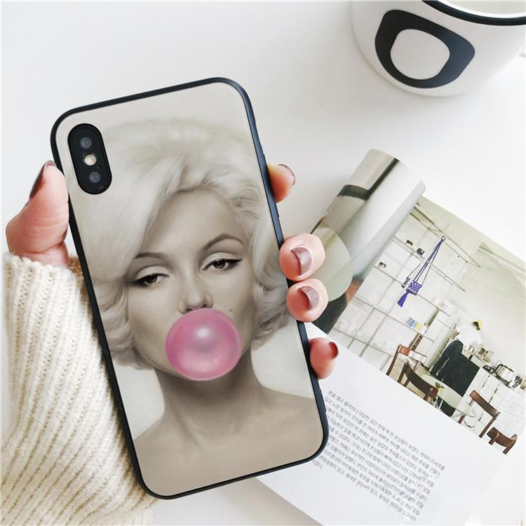 Capa Marilyn Monroe Sexy Cover For IPhone 11 Pro Xs Max Xr Case ...