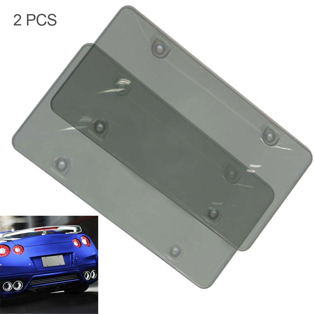 2x fraco fumado placa de placa de plástica placa de placas de placas de fumo de placas de quadros de quadro de quadro Bug Shield Tag Protetor de tag caminhão de carro rv