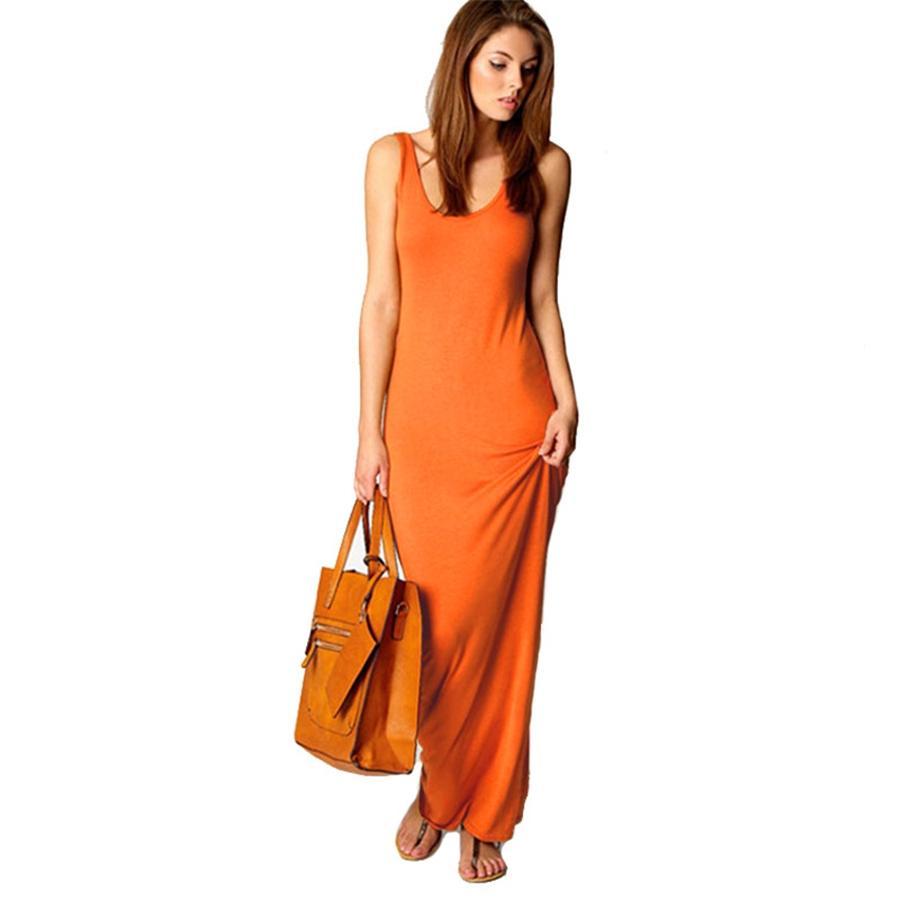 Artı Boyut Kadın Pamuk Yaz Boho Katı Elbise Diz Boyu A-Line Elbise Uzun Günlük Elbise 6 Renkler # 635