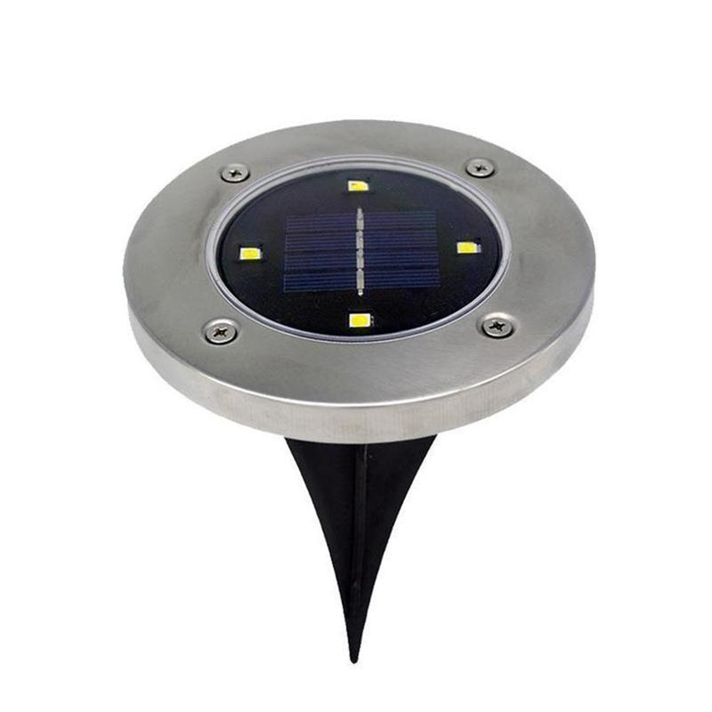LED Solar Outdoor Ground Lamp IP65 Waterproof Landscape Lawn Yard Stair Underground Buried Night Light Home Garden Decoration