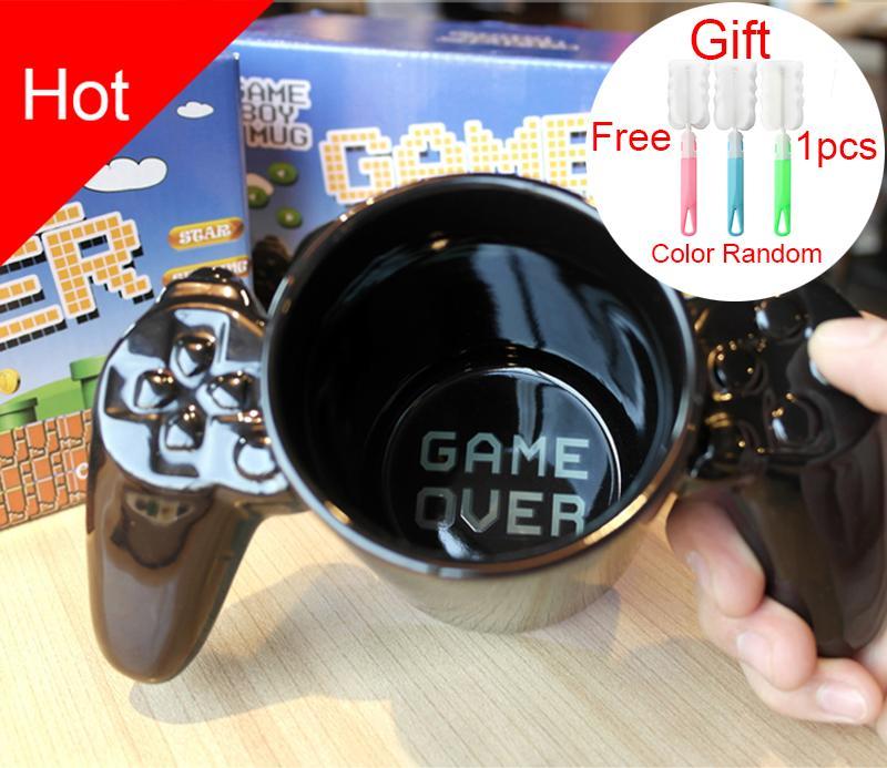 1 개 창조적 인 게임 패드 컵, 개인 모양 커피 우유 소년 게임 머그컵 게임 패드 컨트롤러 커피 잔 생일 선물