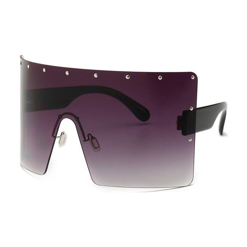 المتضخم 2019 النساء الرجعية خمر النظارات الفاخرة بدون شفة السيدات النظارات هلالية دي سولي صب نساء ظلال كبيرة