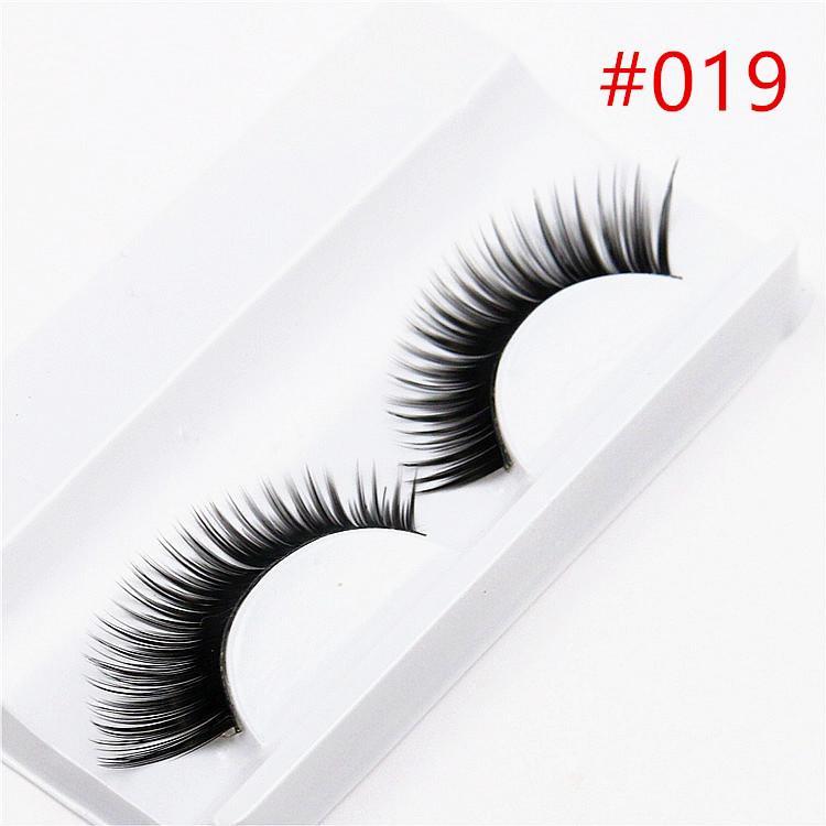 1 Pair Sell 3d False Eyelashes Korea Natural Naked Makeup Long False Eyelash Handmake Eye Lashes Makeup Kit Gift #h019