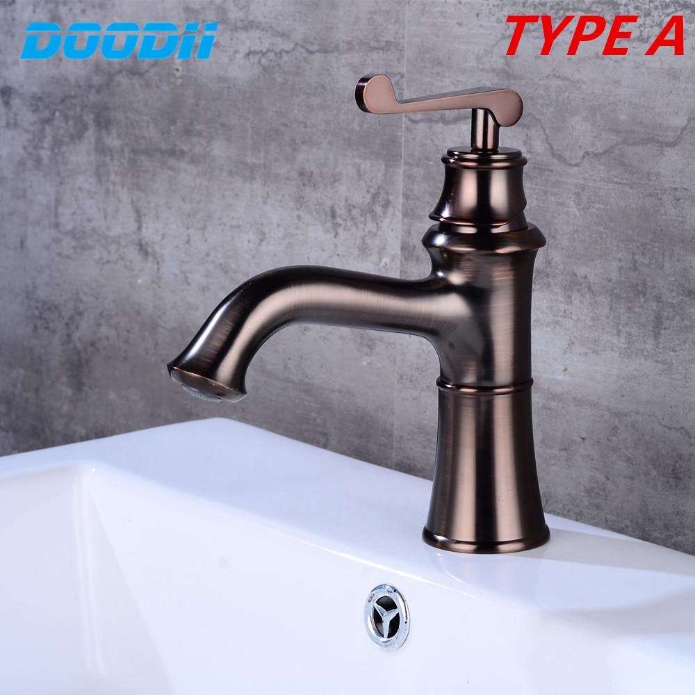 Bathroom Faucet Brass Basin Faucets Luxury Tap Hot Cold Water With Two Pipes Kitchen Outdoor Garden WC Taps DOODII