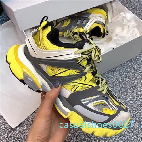 Париж 17FW мода роскошные дизайнер обуви папа трехместный с Мужчины Женщины Повседневная обувь трассе 3.0 кроссовки эспадрильи классический удобную спорт с27 hommesS
