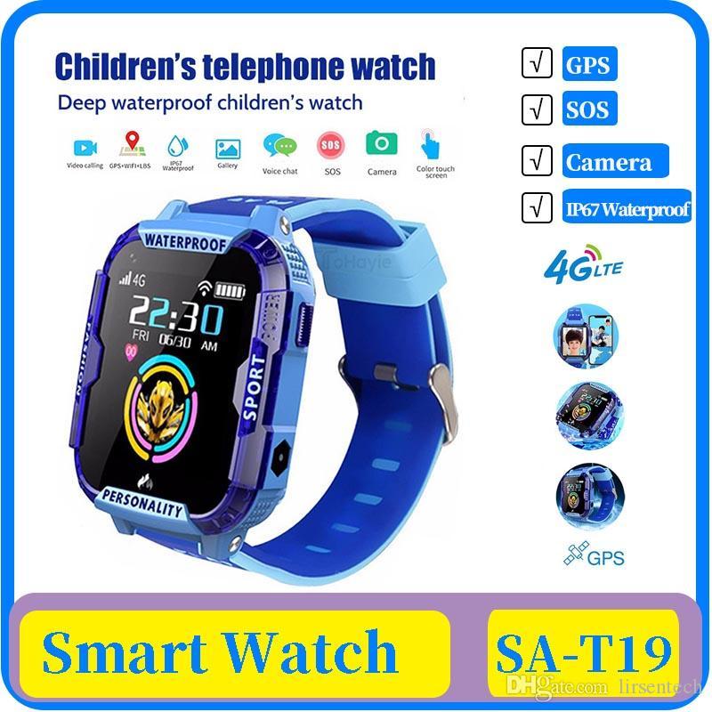 25x 2020 Nueva 4G SOS inteligente Child Watch llamada de emergencia SmartWatch de posicionamiento GPS de seguimiento de IP67 a prueba de agua reloj del cabrito