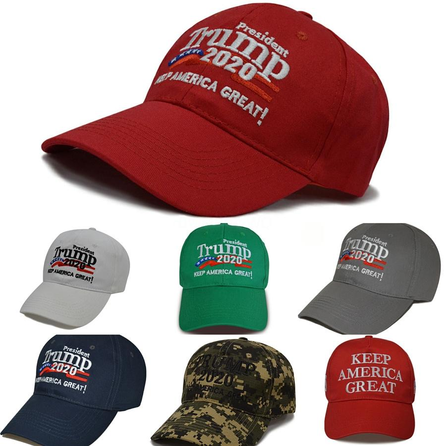 Casquettes de baseball Gardez américain Donald Trump Grand 2020 Baseball Cap Creative Visor Président Cap de haute qualité Cny1674 # 172