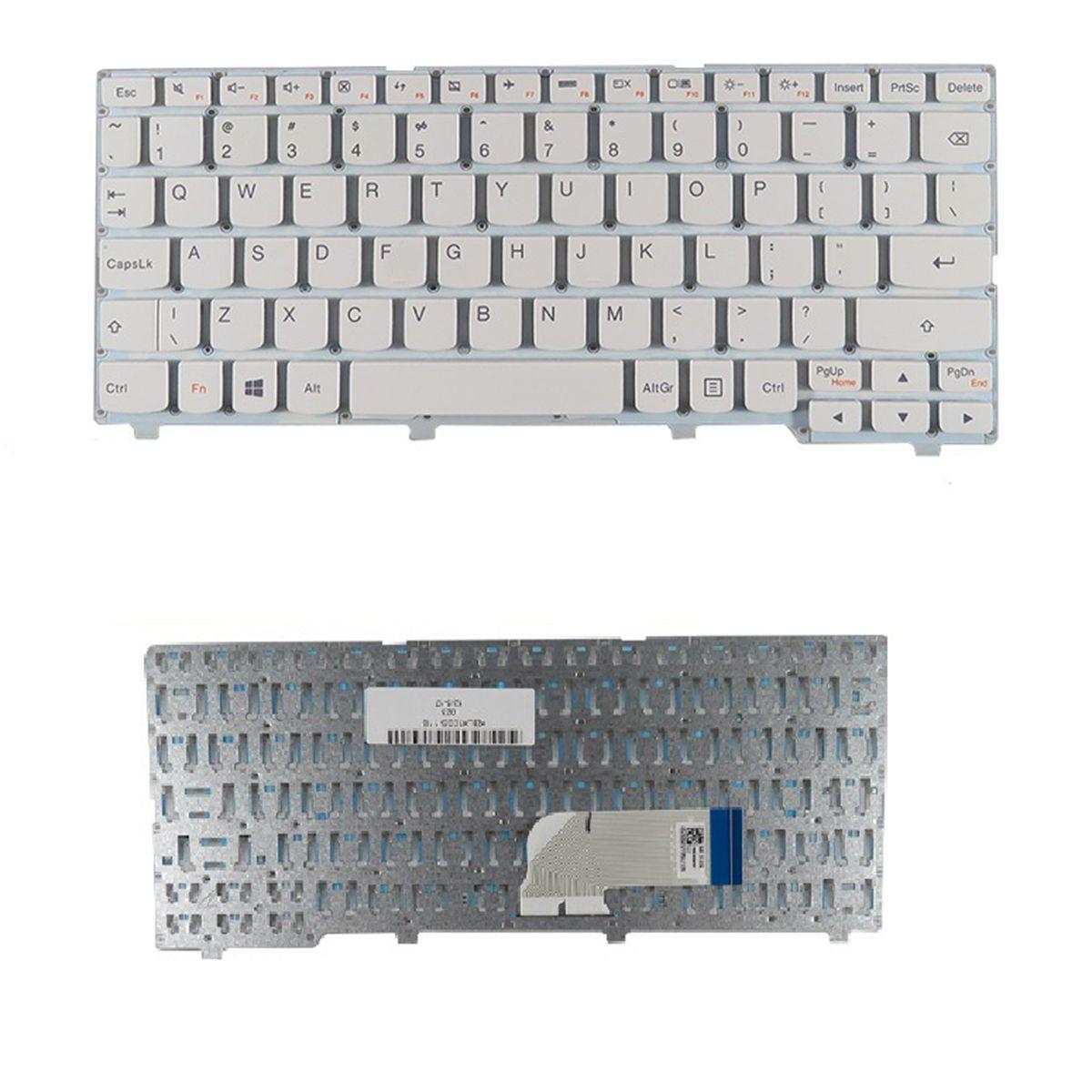 Yeni İngilizce Dizüstü Klavye Lenovo Ideapad 100 100s-11iby Beyaz Onarım Klavye ABD
