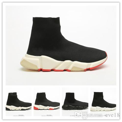 zapatos casuales París clásico Triple S diseñador de moda de lujo hombres y mujeres casuales combinación conjunto calcetines del pie 36-45