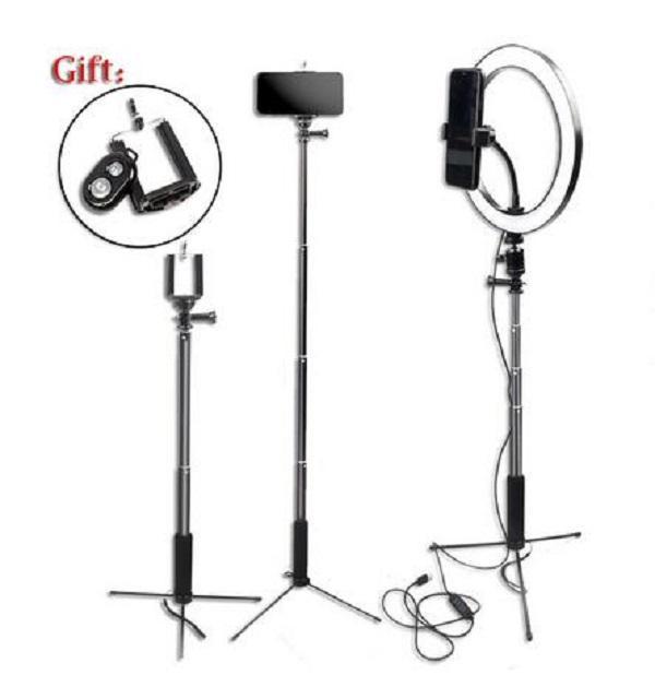 """2020 New Dimmbare Fotografie LED 10"""" 26cm Selfie Ringlicht Youtube Video Live Photo Studio Ring Lampe mit USB-Stecker-Telefon-Standplatz-Stativ"""