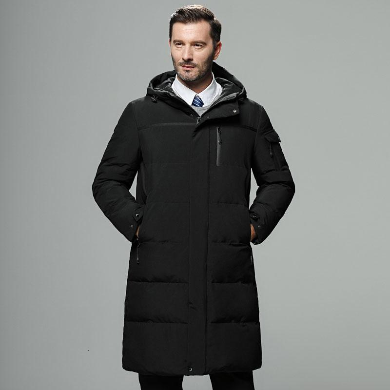 2018 New Fashion Autumn Winter Outwear Down Jacket Men Windproof Waterproof Duck Down Parka Male X-Long Thick Warm Coat M-5XL MX191109