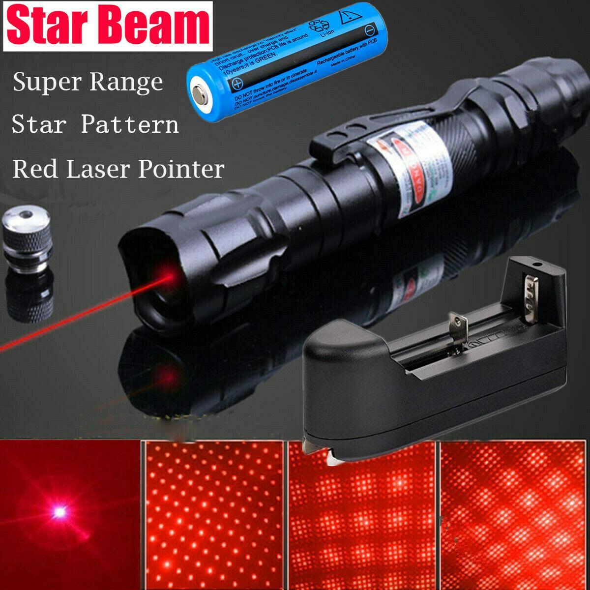 100miles potente 009 rosso della penna del laser 5mw 650m del fascio di luce militare 2in1 laser rosso Pen Star Cap + 18650 Battery +