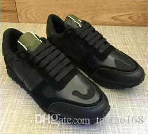 Boyut 35-46 Kadın / Erkek rahat ayakkabılar düz ayakkabılar perçinler unisex çift yıldız ayakkabı kadar hakiki deri dantel kamuflaj