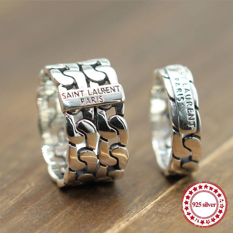 S925 gümüş yüzük kişiselleştirilmiş klasik moda stil içi boş dokuma severler Retro basit takı gönderileceği ile sevgilisi hediyeler çalacak