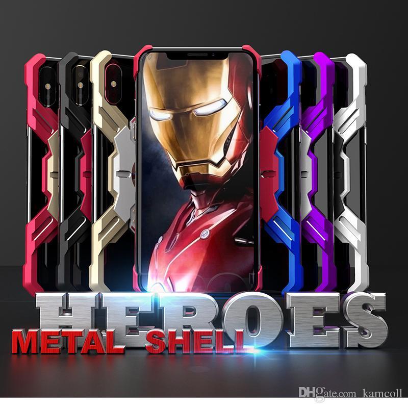 Новый броня металлический бампер для iPhone Xs Max X 7 8 Plus Человек-Паук противоударный чехол бесплатная доставка