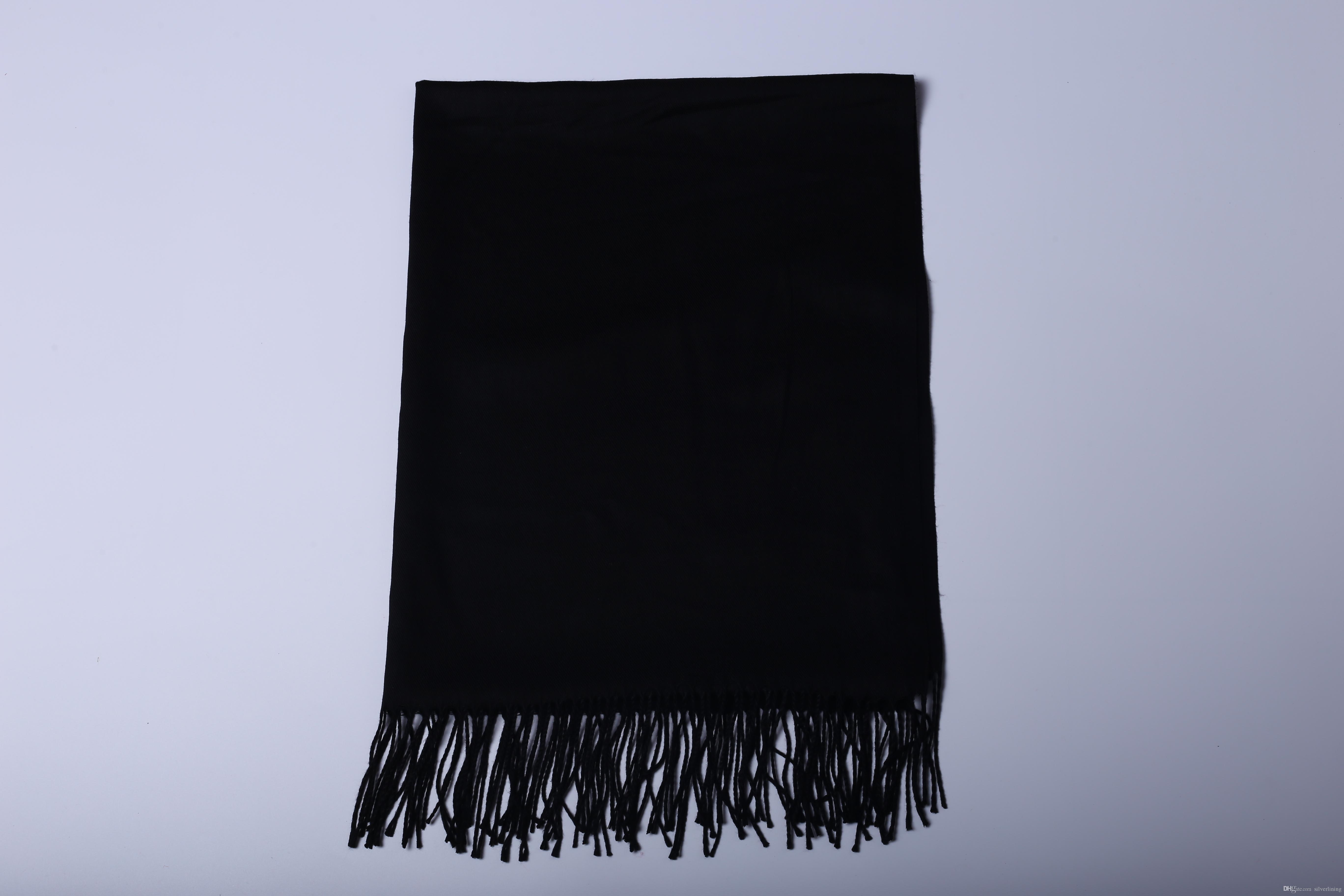 Nueva manera de lujo 2019 de invierno bufanda de la cachemira de Pashmina para las mujeres marca de diseño para hombre caliente de lana de alta calidad