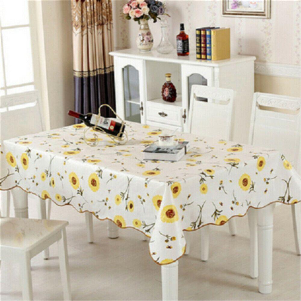 للماء والدليل على النفط PVC الجدول القماش غطاء الرئيسية المطبخ مفرش المائدة