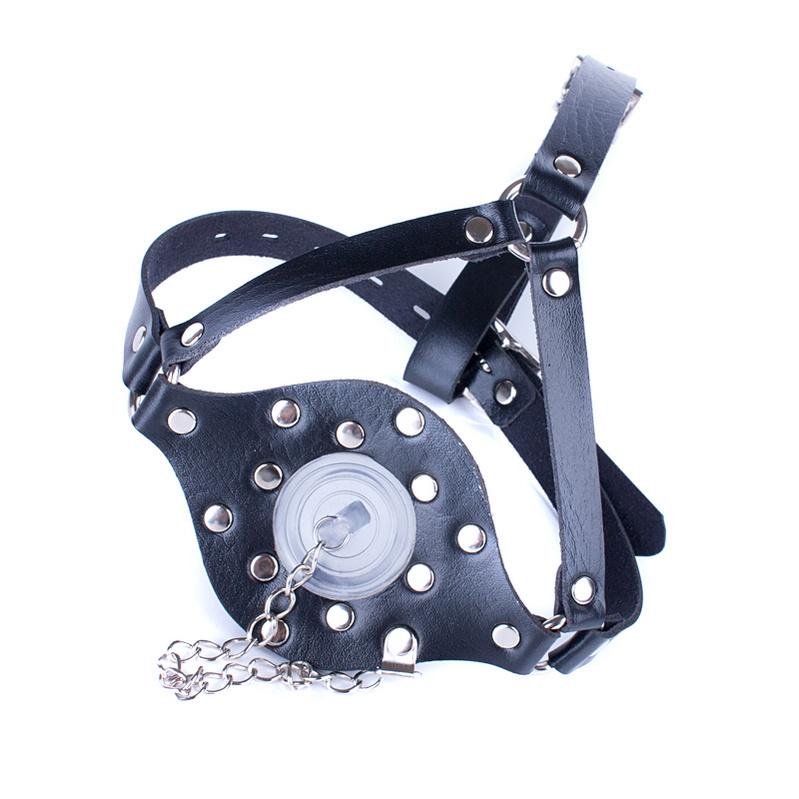 Japanese Black Leather PU Roleplay Muzzle With Fantasy Fetish Games Adult Harness Bdsm Slave Cover Blowjob Sex Toys For Couples Aqdud