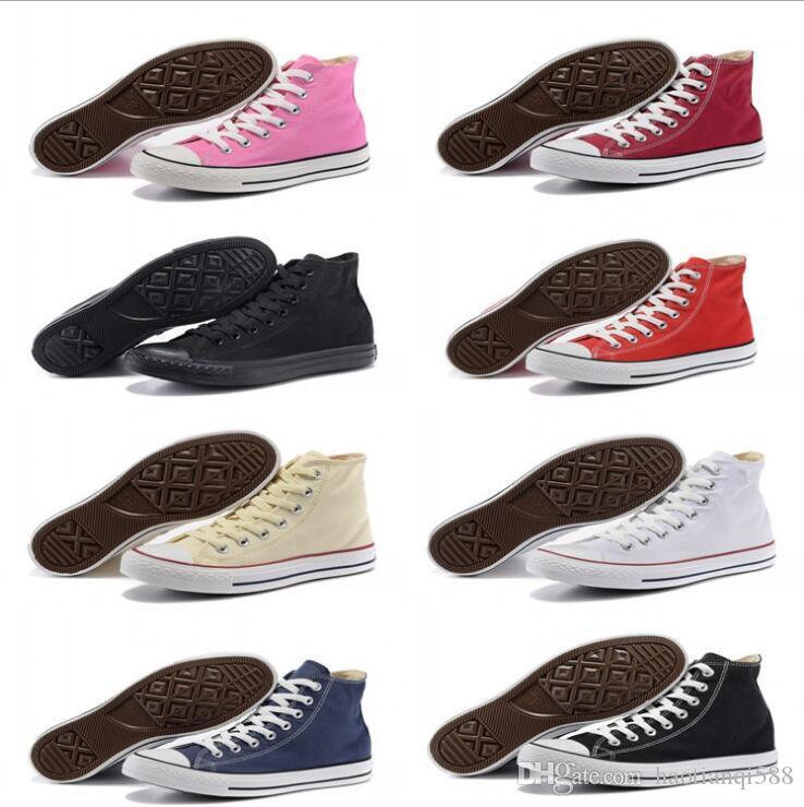 ew 15 Farbe alle Größe 35-45 niedrige Art Sport-Stars Futter Klassische Segeltuch-Schuh-Turnschuh-Männer Frauen-Segeltuch-Schuhe Unisex