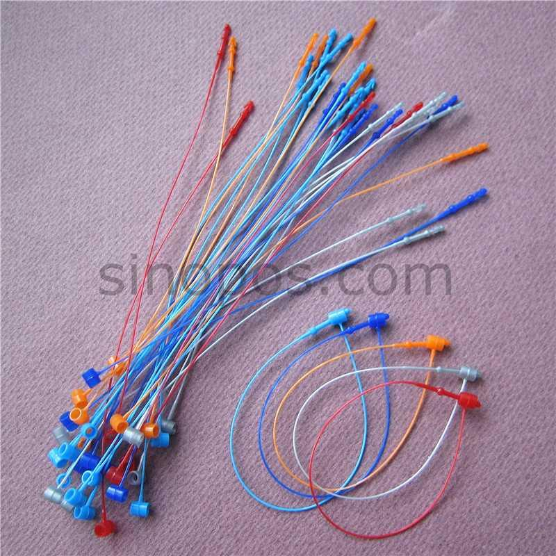 "Colored Loop Locks 5"", garment clothes price label tag security fastener plastic loop pins bag shoes toy hang tag pin seal rope"