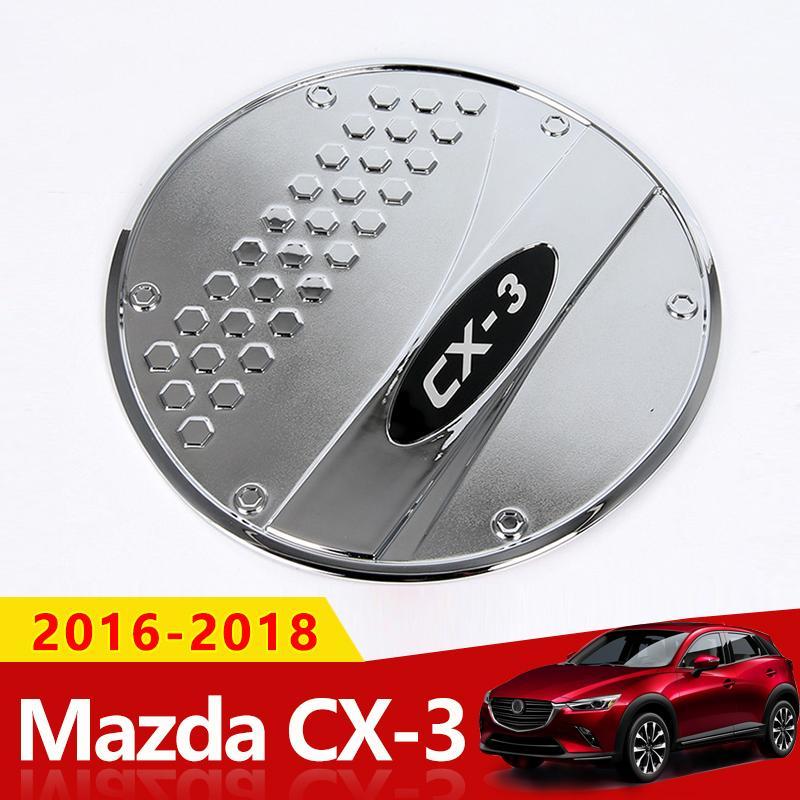 ABS Chrome Car Styling Umrüstung Öl Tankdeckel Aufkleber Trim Für Mazda CX3 CX-3 2016 2017 2018 Zubehör Auto-Styling