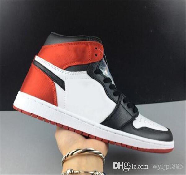 1 gros OG haut satin WMNS BLACK hommes TOE chaussures de basket-ball formateurs sport baskets orange noir Taille extérieure Eur 36-45