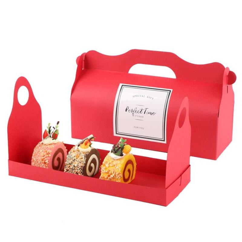 White/Black/Brown/Red Cupcake Marble/Clear Cupcake Box Birthday Packing Cake Box Large Kraft Paper Party Favor 20pcs/lot