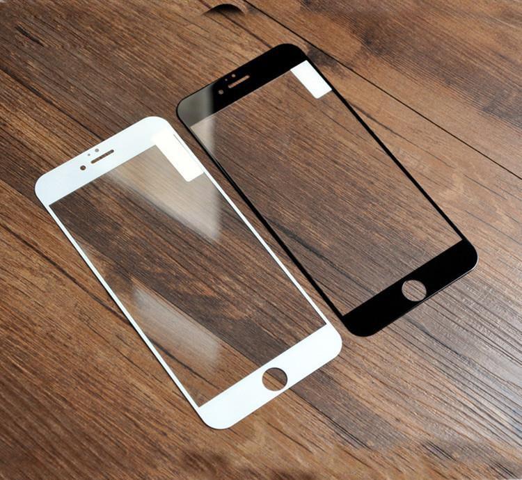 Kapaklı Ipek Baskı Cam iphone X 8 7 6 Artı XR XS XS MAX Temperli Cam Ekran Koruyucu Anti-Çizik Filmi Hiçbir Perakende Paketi 9 H