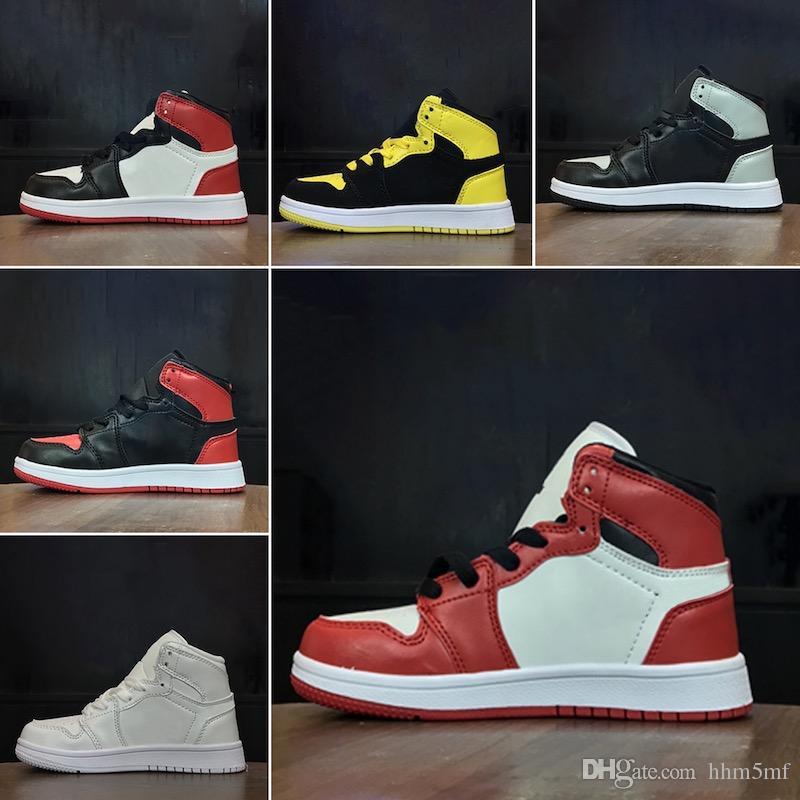 Acquista Nike Air Jordan 1 Box Kids Original Scarpe Da Stilista Di