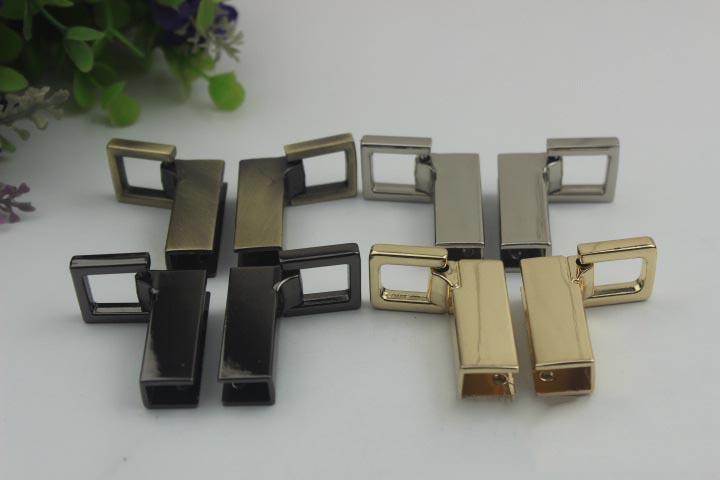 المعادن الجانب كليب أبازيم حقيبة حزام حزام المسمار حقيبة مقابض سلسلة هوك موصل حقيبة شماعات الاكسسوارات ديي الأجهزة الجلدية