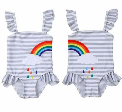 2020 Newborn Baby Bodysuit Infant Baby Girl Ruffle manga curta Bodysuits Jumpsuit Bodysuit Clothes Outfit 0-18M
