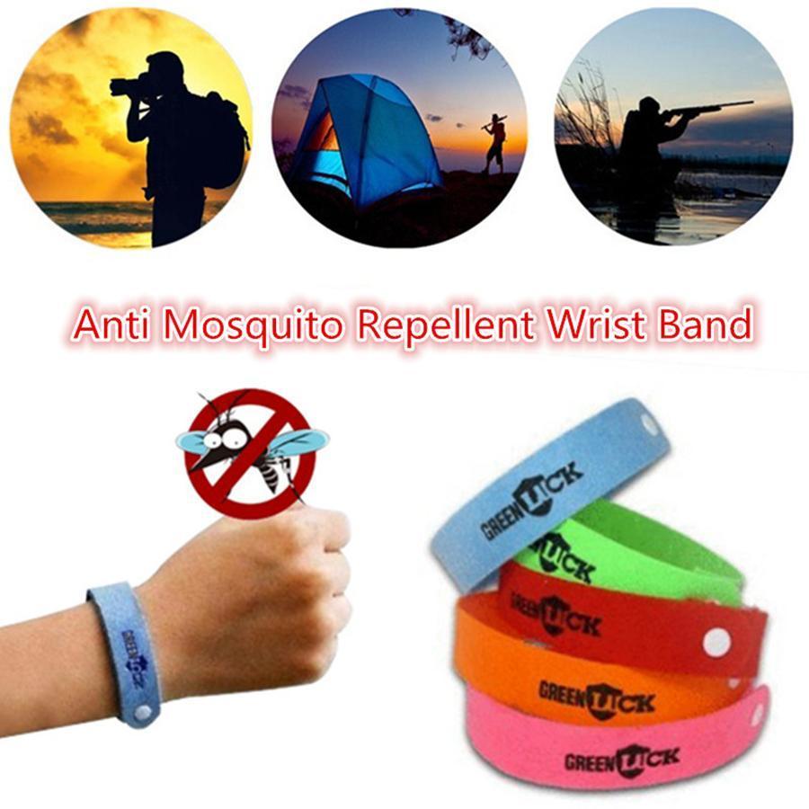 Anti Mosquito Wristband Non Tissé moustiques tueur Eco Friendly Bugs INSECTIFUGE Party Bracelet faveur OOA8112