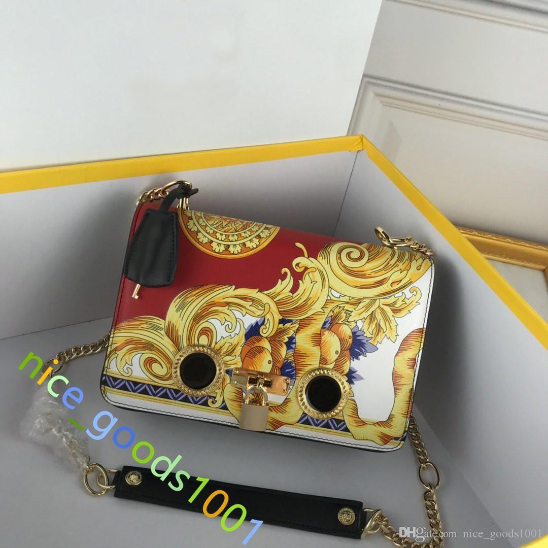 2020 Luxus Handtasche Geldbörse Griechisch Key Medusa Kopfkette Strap Schulter Crossbody Frauen Reisetaschen Frauen Mode Geldbörsen Tasche Design Handtasche