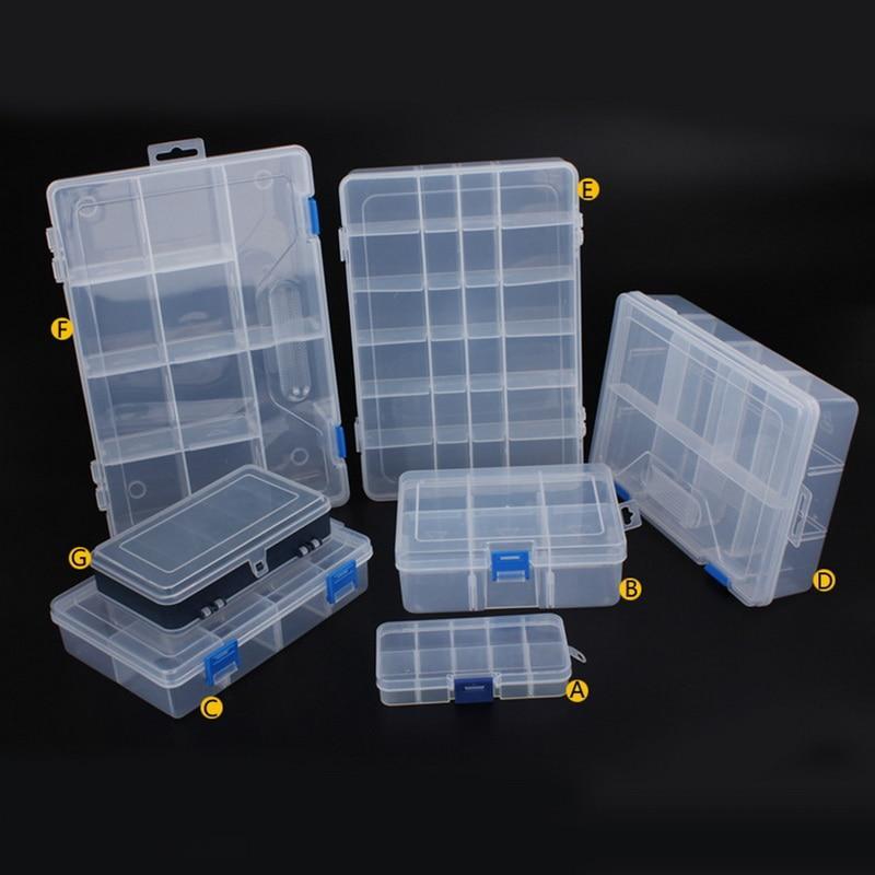 Gioielli Urijk di plastica dell'attrezzo di sicurezza per la casa Scatole per lo strumento Electronic Components Storage Box Combinazione Vite Anello di finitura Nuovo