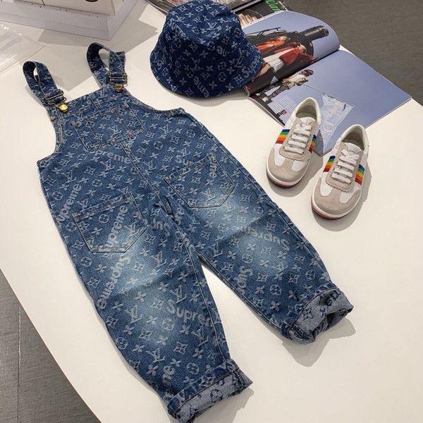 nouveaux jeans garçons pantalons pantalon denim jeans bébé salopette pantalons jeans enfants pour les vêtements de fille