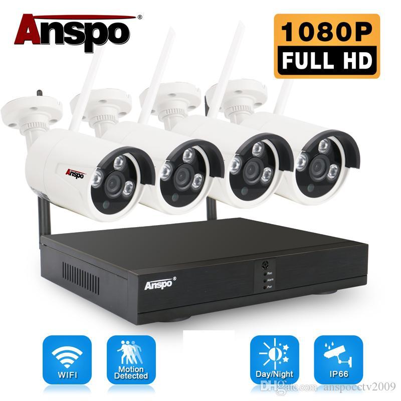 4 قطع 4ch كاميرا لاسلكية كاميرا نظام wifi كاميرا كيت NVR 1080P للرؤية الليلية ir-cut cctv نظام المراقبة المنزلية للماء