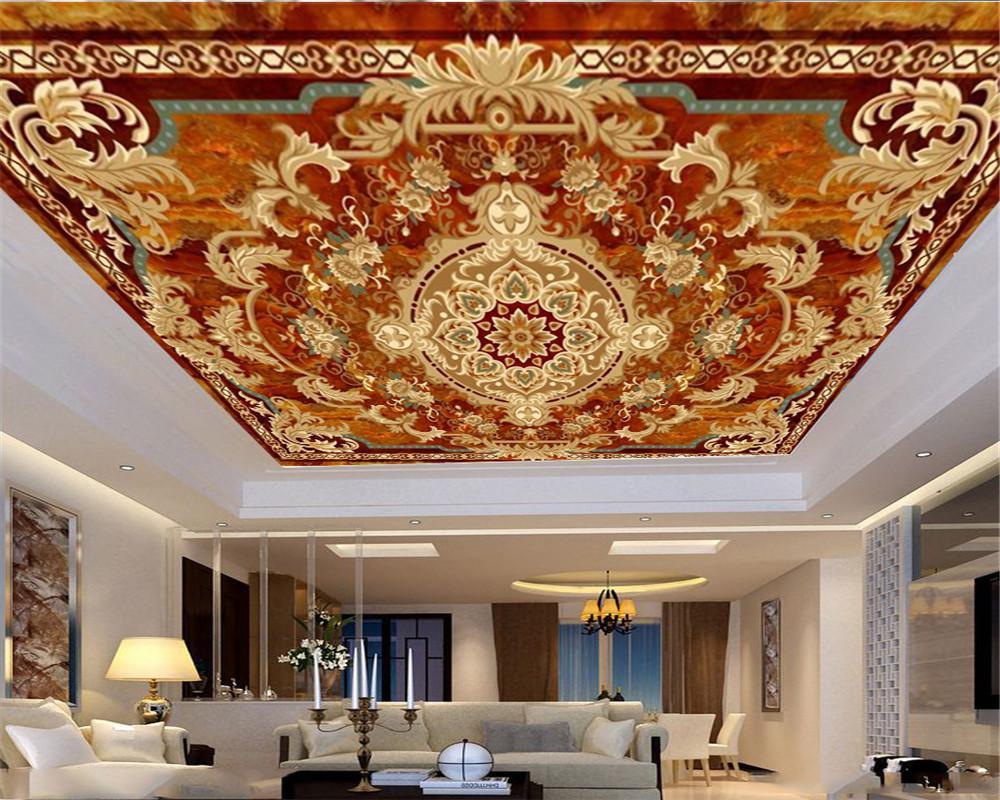 pintado a mano del papel pintado 3D Mural mármol fino Ejemplo de la flor de la sala Zenith dormitorio del papel pintado de Protección Decoración