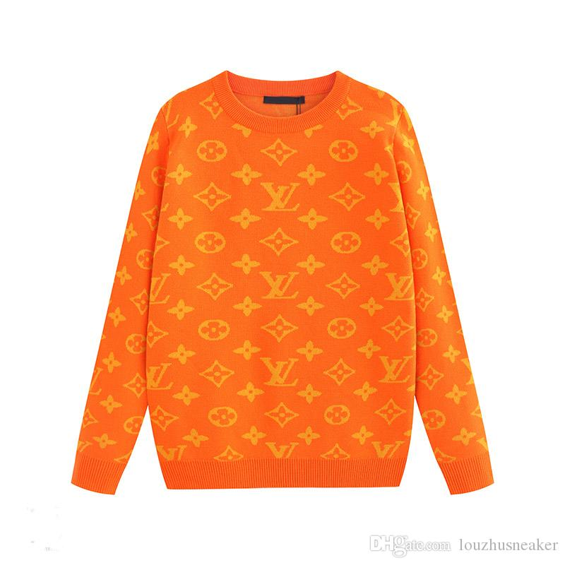 etichetta disegno geometrico jacquard maglione caldo pullover maglia alta qualità 2019New maglione girocollo Maglione codice maschio M-3XL