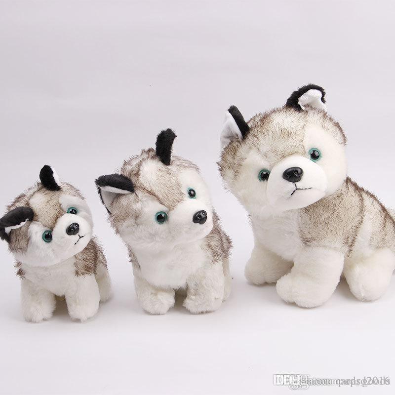 Husky köpek peluş oyuncaklar doldurulmuş hayvanlar oyuncaklar hobiler 7 inç 18cm Dolması Artı Hayvanlar Sık Kullanılanlara Ekle
