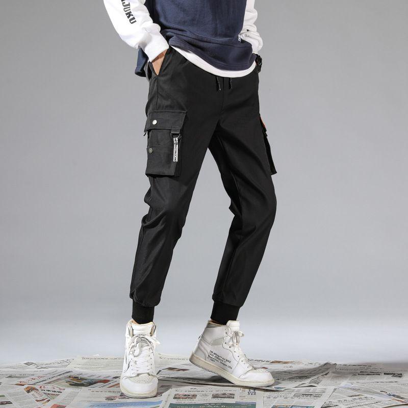 Compre 2020 Nuevos Pantalones De Moda Para Hombre Pantalones Deportivos Corredores Con Letras Primavera Hombres Pantalon Con Cordon Elastico Joggers Ropa Al Por Mayor De Los Hombres De A 38 29 Del