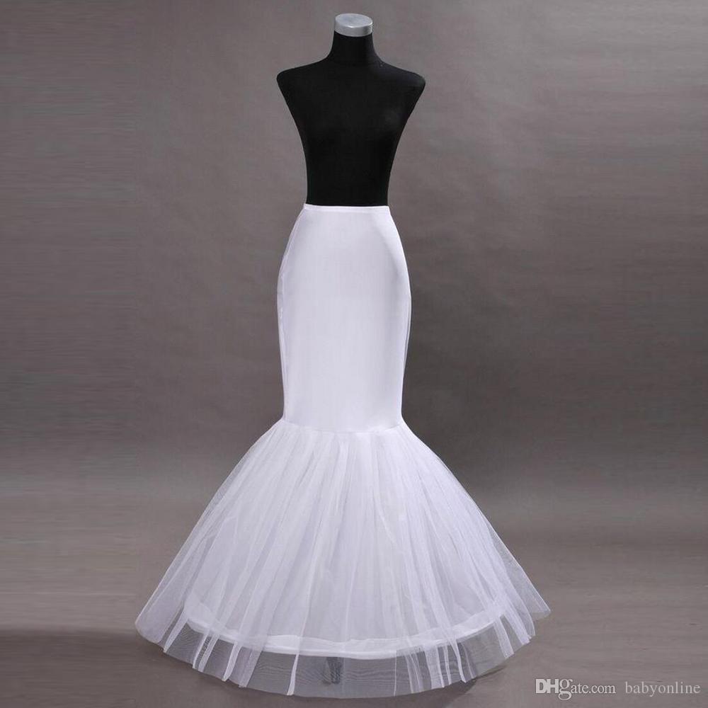 In Stock One Hoop Flounced Petticoats Bridal Crinoline For Mermaid Wedding Prom Dresses Accessories