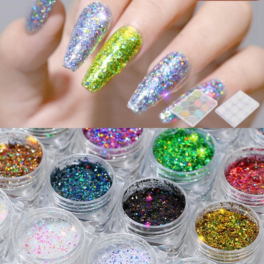 12 cores nail art glitter em pó requintado prego diy decoração lantejoulas manicure ferramenta nail art ferramenta