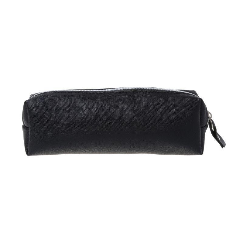 Ampliación de Capacidad de maquillaje de cuero bolsa caso de lápiz de la pluma de la bolsa de escritorio caja monedero Nueva 19QA