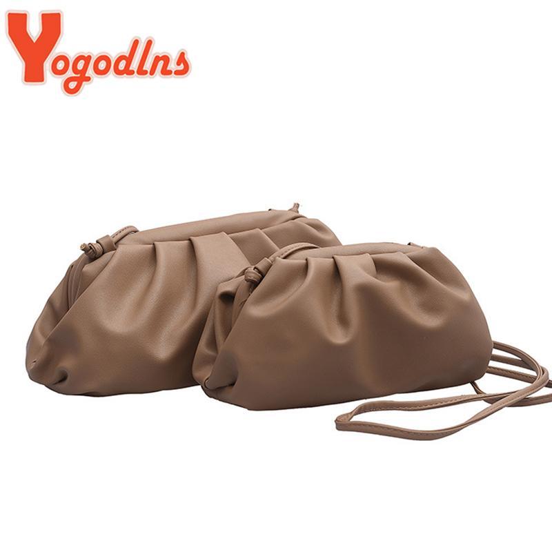 Yogodlns Mode Wolke Crossbody Beutel für Frauen 2020 Kleine Clutch weiblicher PU-Leder-Handtaschen-Dame-Schulter-Kurier-Geldbeutel