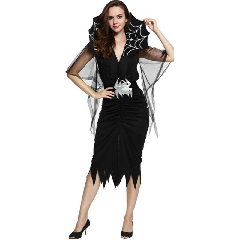 Evil Queen Halloween Girls Fancy Dress Kids Childrens Gothic Vampire Costumes