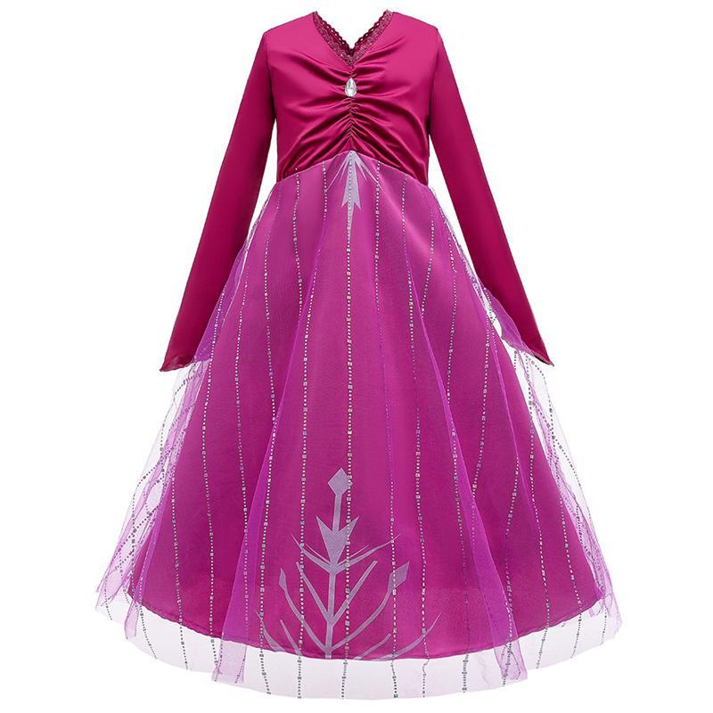 Gefrorene Kleid für Kind-Mädchen-Baby-Kleid-Baby-Prinzessin Pageant formale Hochzeit Kleid-Partei-Ballkleid 2020 Kinder Kleidung S546